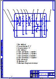 Схема передач краз 260