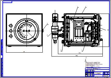 Сборочный чертеж отсчетно-командного устройства.