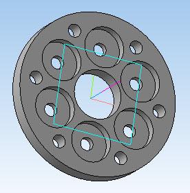 Большая крышка передней ступицы в 3D