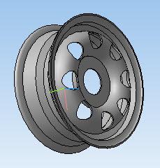 Диск колесный в 3D