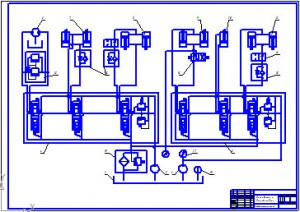 Гидравлическая схема экскаватора - дреноукладчика