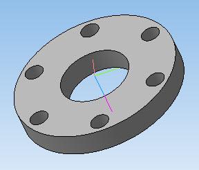 Малая крышка передней ступицы в 3D