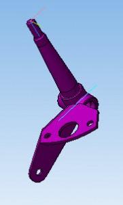 Чертежповоротного кулака в 3D