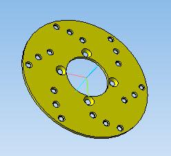 Тормозной диск в 3D