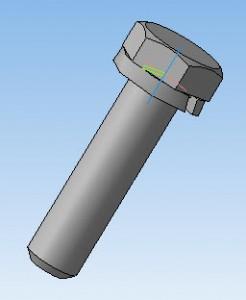 3D модель болт-шайба 45