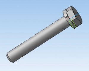 3D модель болт-шайба 65
