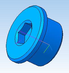 3D модель заливной пробки редуктора