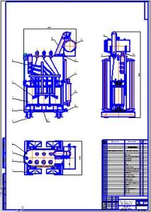 Общий вид трансформатора ТМ 1000/6,0
