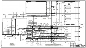 План расположения технологического оборудования в цехе лесопиления
