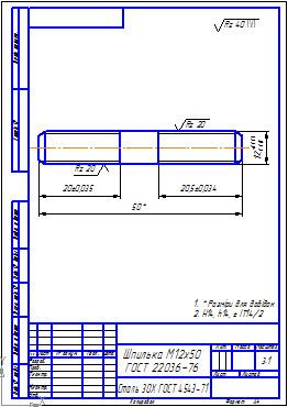 Изображение резьбовых изделий и соединений инженерная графика.