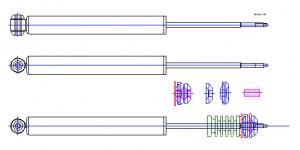 Амортизатор задний М-2141