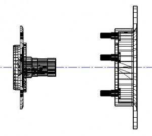 Ступица и тормозной диск Нива 3D